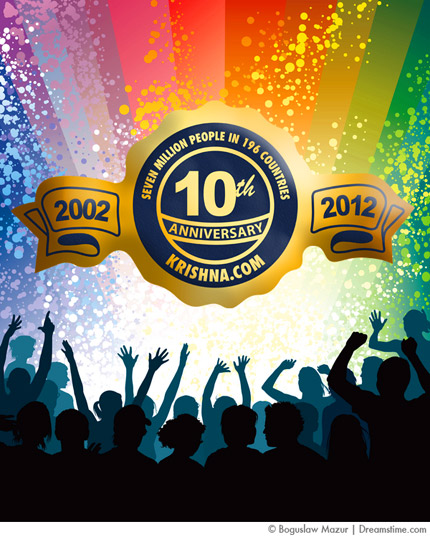 Celebrate Krishna.com's 10th Anniversary