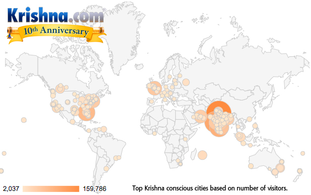 top ten Krishna conscious cities - Krishna.com